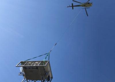 Livraison Spa inox en Hélicoptère